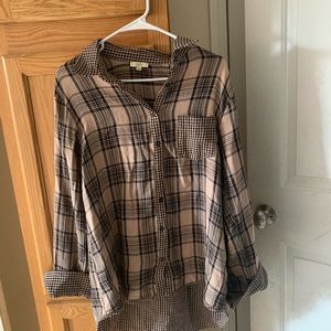 Kori America 3/4 flannel shirt